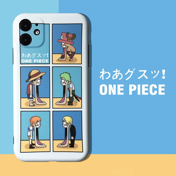 One Piece Jaw-dropping Grid iPhone Case