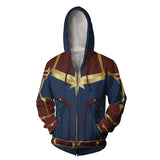 Captain Marvel Carol Danvers Zip Up Hoodie