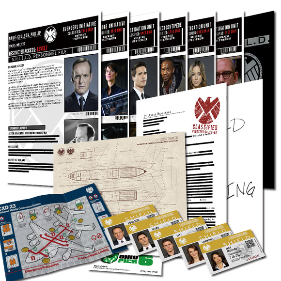 Agents of S.H.I.E.L.D Top Security Files & ID Cards