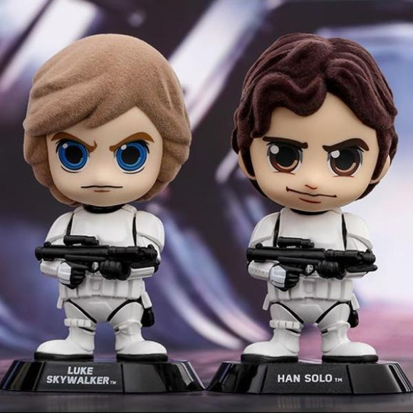 Hot Toys Star Wars Luke Skywalker & Han Solo Cosbaby (Stormtrooper Disguise Version)