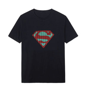 Superman Voice Control Wireless Glowing Short-sleeves T-shirt
