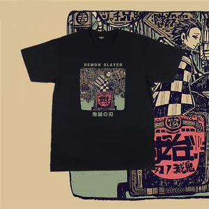 Demon Slayer: Kimetsu No Yaiba Retro Summer T-shirt