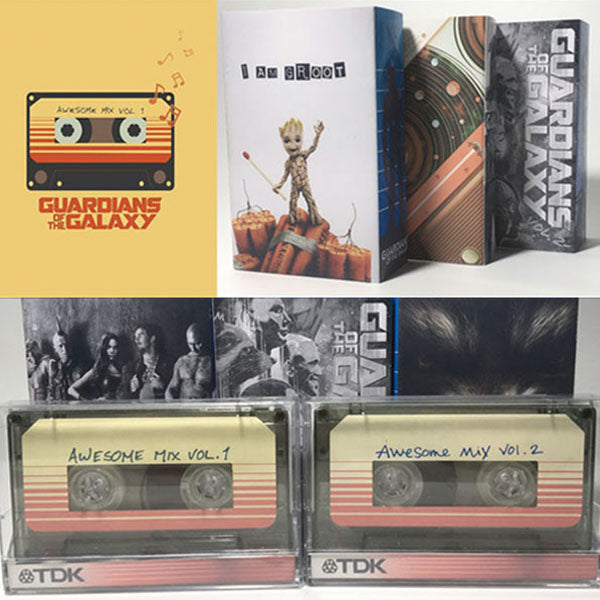 Guardians of the Galaxy Awesome Mix Vol 1 & 2 Cassettes