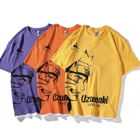 Uzumaki Naruto Side Face Summer T-shirt