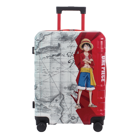 One Piece Straw Hat Crew Carrying Suitcase
