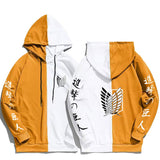 Attack on Titan Survey Corps Logo Colorblocked Hoodie