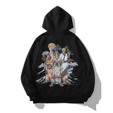 Straw Hat Pirates Luffy, Zoro, Sanji in Kimono Embroidery Hoodie