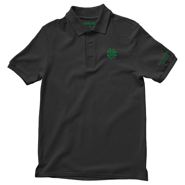 Black Shamrock Polo