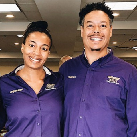 Charles & Rajahnique Jones Owners of Long Beach Wardlow Grocery Outlet