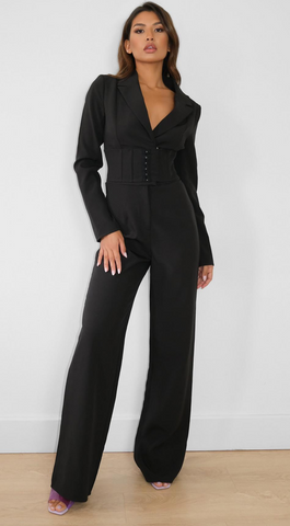 misguided chic black jumpsuit