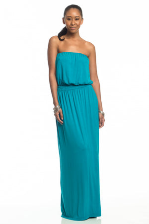 Isabella Strapless Maxi Dress for Tall Girl - HEIGHT GODDESS