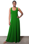 Lola Tank Maxi Dress - Green - HEIGHT GODDESS