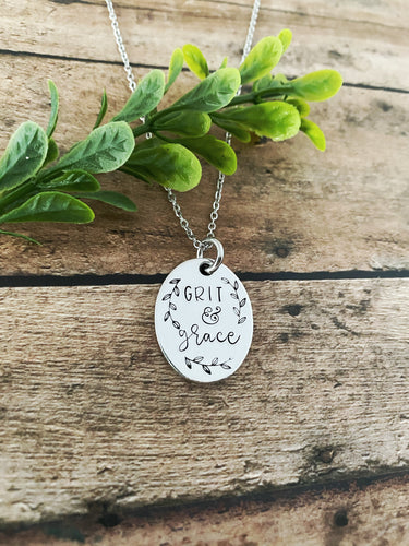Grit and grace necklace