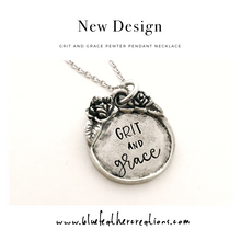 Load image into Gallery viewer, Grit and Grace pewter pendant necklace