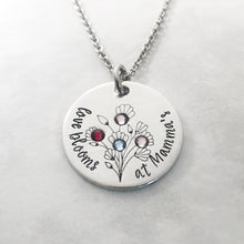 Load image into Gallery viewer, Personalized birthstone necklace for Grandma