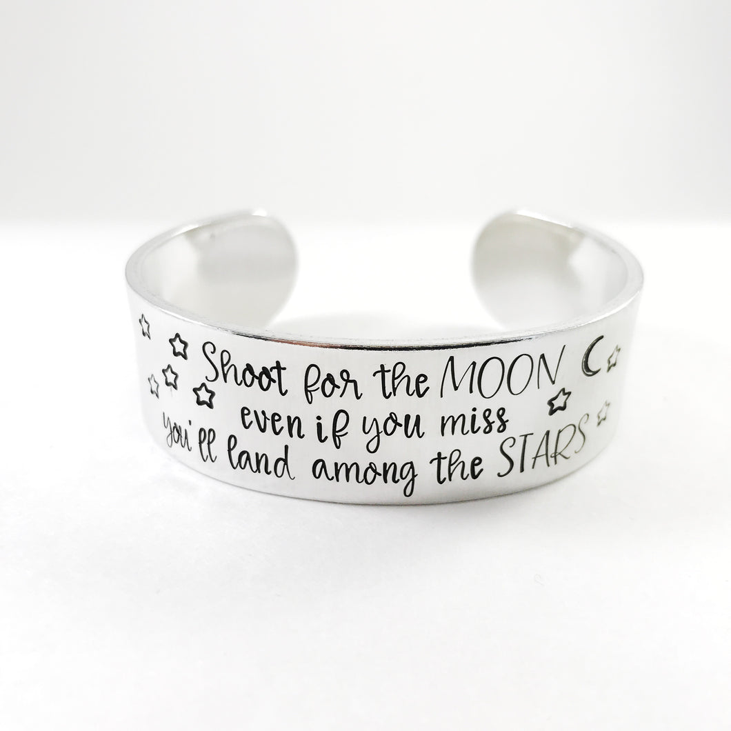 Shoot for the moon wide cuff