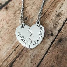 Load image into Gallery viewer, Matching Mother/Daughter Heart Necklace