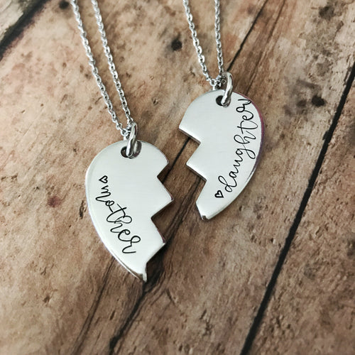 Matching Mother/Daughter Heart Necklace