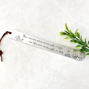 """Gift of life"" bookmark"