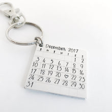 Load image into Gallery viewer, Calendar keychain