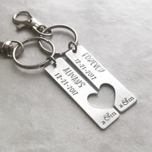 Load image into Gallery viewer, Couples Matching Keychain Set