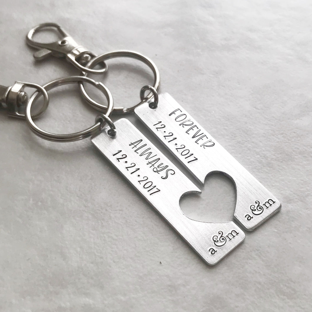 Couples Matching Keychain Set