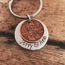 Load image into Gallery viewer, Anniversary penny keychain