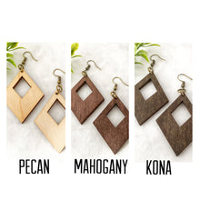 Load image into Gallery viewer, Wood earrings style 7