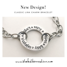 Load image into Gallery viewer, Wide link charm bracelet for mom