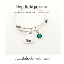 Load image into Gallery viewer, Birthstone charm bracelet for girls