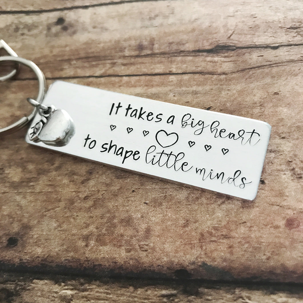 It takes a big heart keychain