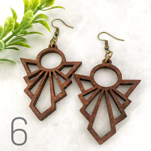 Load image into Gallery viewer, Wood earrings style 6