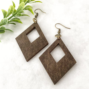 Wood earrings style 5