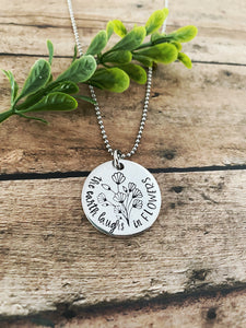 The earth laughs in flowers necklace