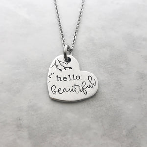 Hello beautiful necklace