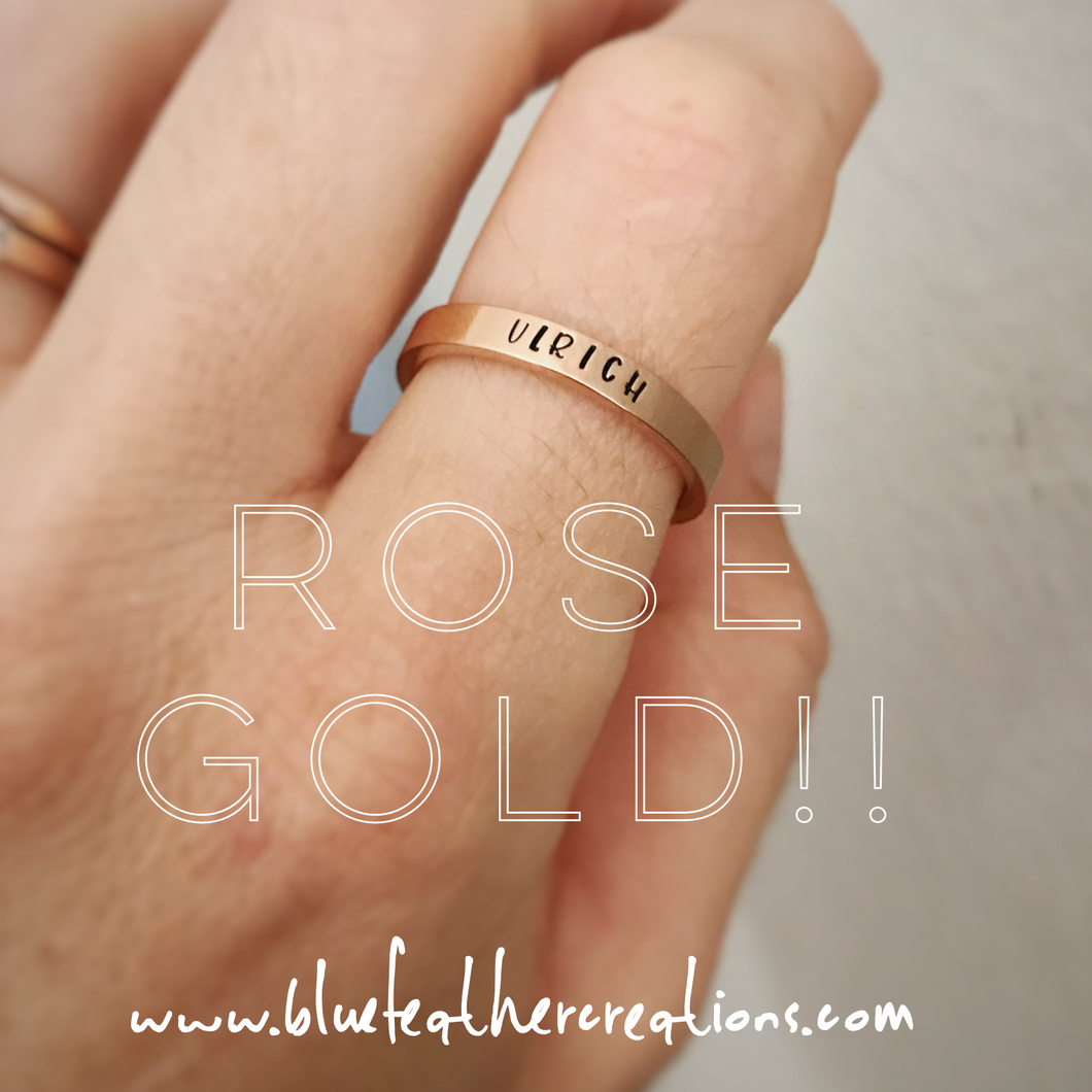 Rose Gold Stainless Stacking Rings
