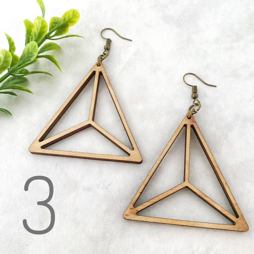 Wood earrings style 3