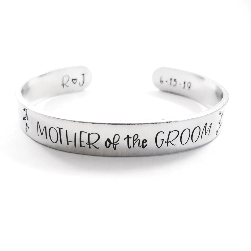 Personalized Mother of the Groom bracelet