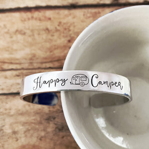 Happy Camper cuff