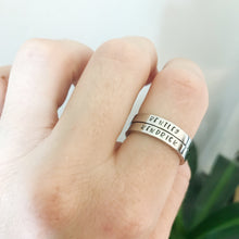 Load image into Gallery viewer, Silver Stacking Name Rings