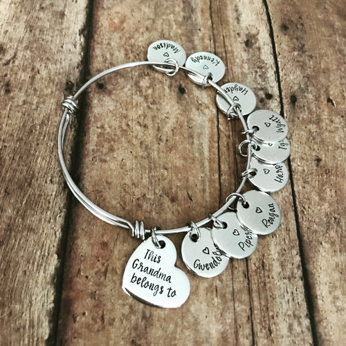 This mom belongs to...custom charm bracelet