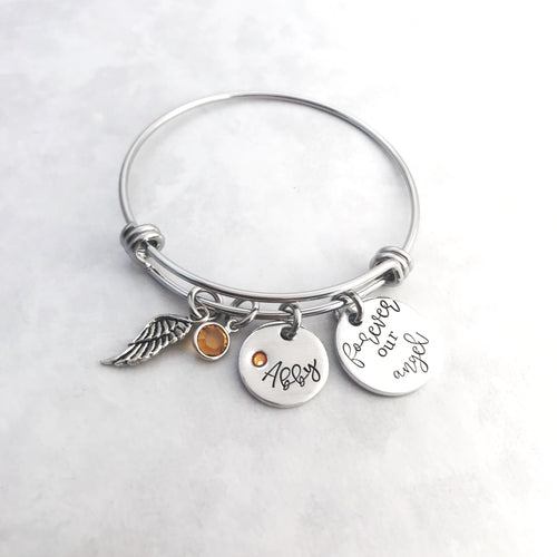 Memorial charm bracelet for loss of loved one