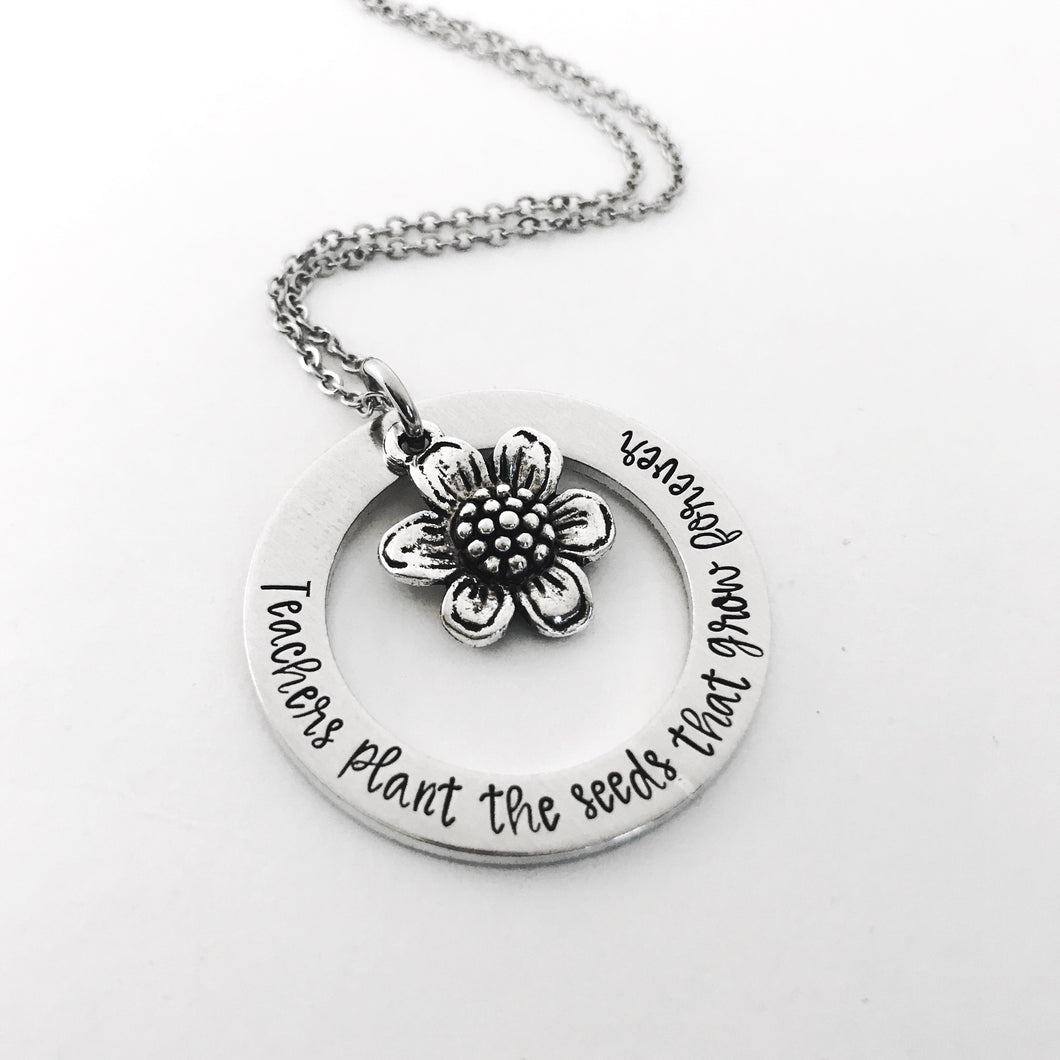 Teachers plant the seeds necklace