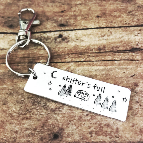 Funny camper keychain