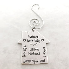 Load image into Gallery viewer, Welcome Home Baby Ornament