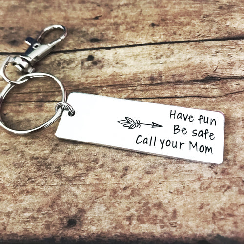 Call your mom keychain