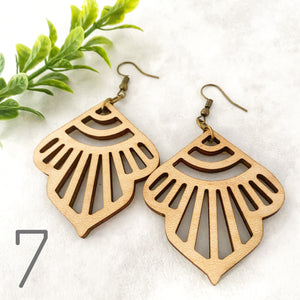 Wood earrings style 7