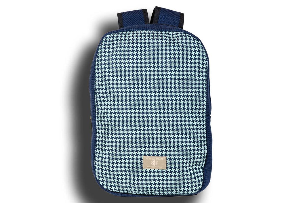 Houndstooth Seafoam Urban Backpack