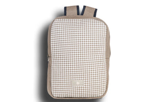 Houndstooth Oyster Grey Urban Backpack