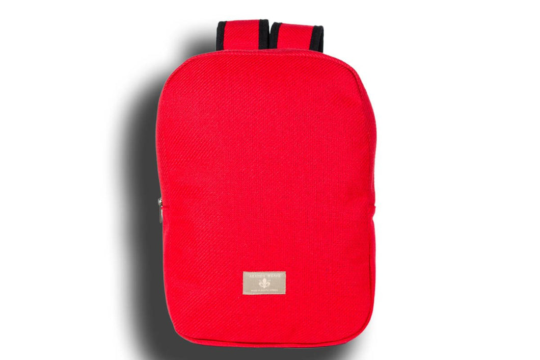 Plain Red Urban Backpack